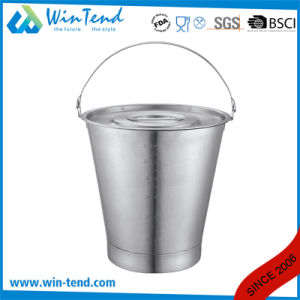 Stainless Steel Inclined Pail Lid Cover with Handle pictures & photos