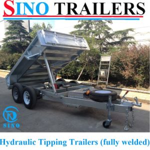 Tandem Galvanized Heavy Duty Hydraulic Tipper Trailers pictures & photos