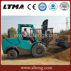 3-4 Ton 4WD All Rough Terrain Diesel Forklift Equipped with Yanmar Engine pictures & photos