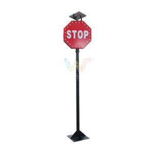 Customized Aluminum 600mm Solar Power LED Stop Sign pictures & photos