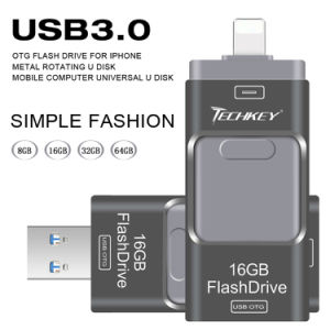 USB3.0 OTG USB Flash Disks Ios for iPhone6 7 Plus pictures & photos