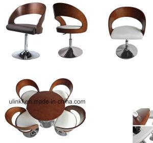 Metal Base Wooden Back Bar Stool Modern Bar Furniture (UL-JT522) pictures & photos