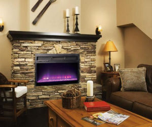 Infrared Quartz Multi-Color Electric Fireplace with Thermostat and Remote Control