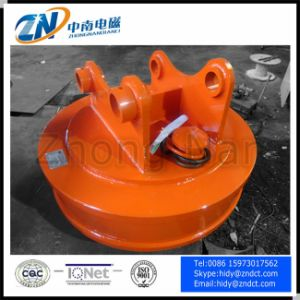 Scrap Lifting Magnet for Excavator Installation with 100 Kg Lifing Capacity Emw5-60L/1 pictures & photos