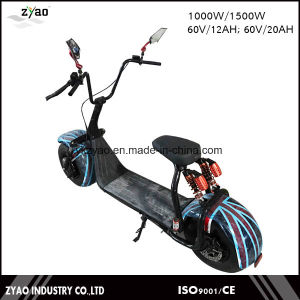 City Coco 1500W Brushless Adult Electric Scooter 2 Wheels Harley Electric Scooter with Front Rear Shock pictures & photos