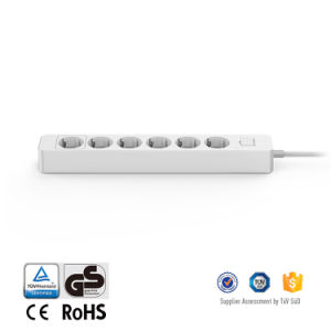 6 Outlet Power Sockets EU Power Strip for Household Appliances Audio 4000W Max pictures & photos