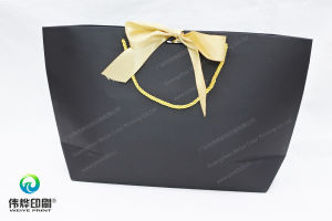 Boat Shape Paper Printing Shopping Packaging Bag (Gold Bowknot) pictures & photos