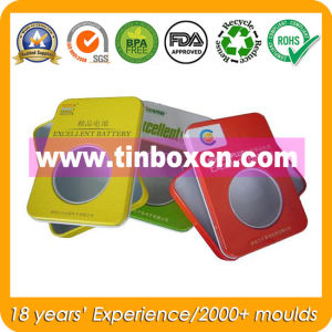 Rectangular Battery Tin Box with PVC Window for Gift Tins pictures & photos