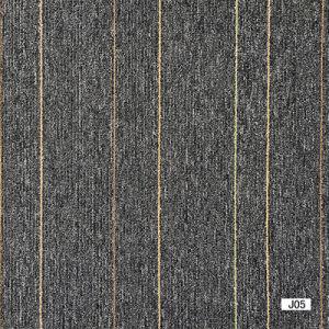 Jiang- 1/10 Gauge Polypropylene Bcf Flat Loop Jacquard Carpet Tile with Bitumen Backing pictures & photos