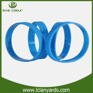 OEM Debossed & Embossed Printed Silicone Wristband Manufacture pictures & photos