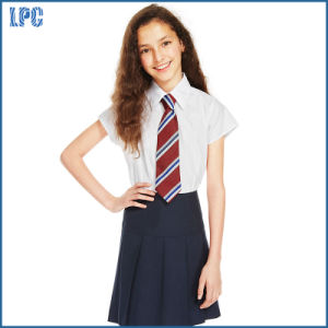 School Girls′ Easy to Iron Cap Sleeve Blouses pictures & photos