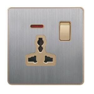 British Standard Stainless 13A Multi-Functional Socket with Neon pictures & photos