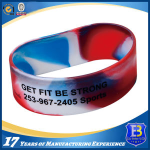 Silicone Wristband with Filling Color for Promotion Gift pictures & photos
