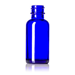 1 Oz Cobalt Blue Glass Bottle Black Fine Mist Sprayer pictures & photos