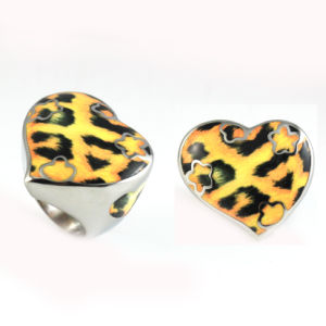 Fashion Hot Sales Stainless Steel Leopard Print Finger Ring pictures & photos