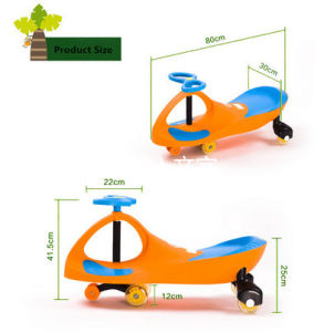 Kids Ride on Toy Slider Swing Car with Foot Mat pictures & photos
