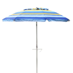 Beach Umbrella Sunburst Stripe 210cm 98% UV Protection
