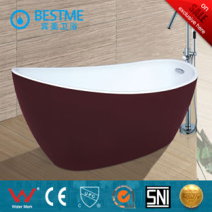 Modern Red Color Simple Art Bathtub for Adult (BT-Y6012) pictures & photos