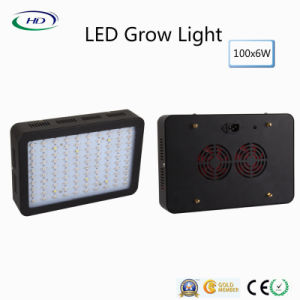 Black Housing 100PCS*6W LED Grow Light for Hydroponics System Growth pictures & photos