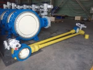 Electric Bi-Directional Sealing Butterfly Valve with Extended Stem pictures & photos