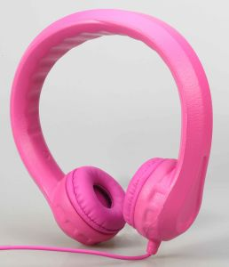 Pink BPA-Free EVA Wired Kids Headsets with Removable Size-Adjuster Safe for Children (OG-K100) pictures & photos