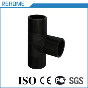110mm Black HDPE Pipe Fitting for Water Supply Tee pictures & photos