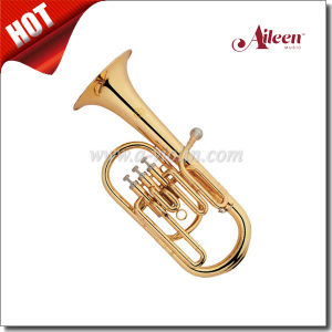 Brass Alto Horn 3 Valves Eb Key Gold Lacquer (AH9701G) pictures & photos