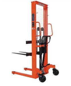 1 Ton 1.6m Hand Forklift Hydraulic Pallet Stacker Manual Hand Stacker Forklift Price pictures & photos