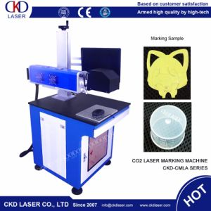 Easy Operation CO2 Laser Carving Marking Machine for Leather PU Wooden pictures & photos