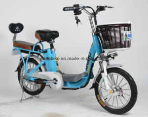 Single Speed Battery Bicycle, Fashion E Bicycle Powered by Lihium Battery pictures & photos