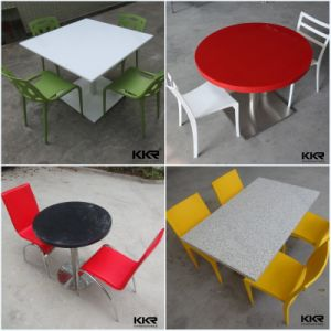 Modern Marble Solid Surface Fast Food Dining Table Top pictures & photos
