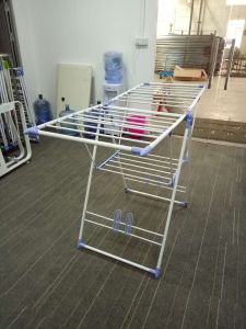 Pink Color K-Type Clothes Dryer Rack with Shoe Rack Jp-Cr109PS pictures & photos