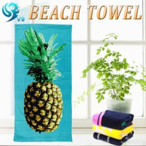 Terry Side Cotton Printed Beach Towel pictures & photos
