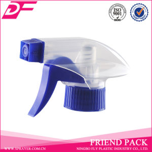 Plastic PP Transparent Blue Color 28/400 Trigger Sprayer