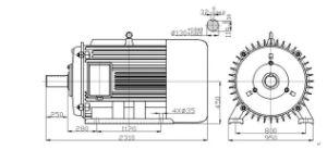 60kw, 30rpm Permanent Magnet Generator/Alternator pictures & photos