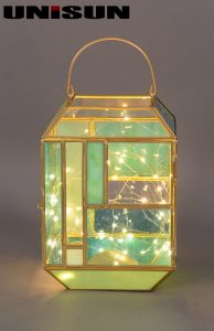 Christmas Decoration Light Glass Craft with Copper String LED Light for Wall Art (17103) pictures & photos