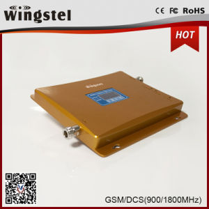 High Quality Dual Band GSM/Dcs 900/1800MHz Mobile Signal Booster with LCD pictures & photos