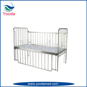 Stainless Steel Frame Baby Bed with Mattress pictures & photos