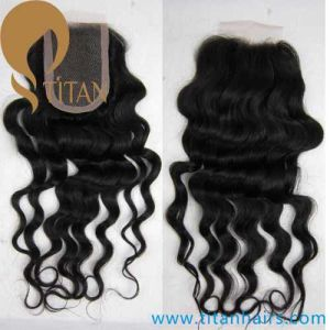 Deep Weave100% Brazilian Remy Human Hair Lace Closure