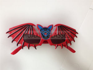 Bat Party Glasses for Halloween Red