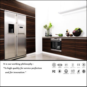 UV MDF Colour Painting Kitchen Cabinet (ZH11) pictures & photos