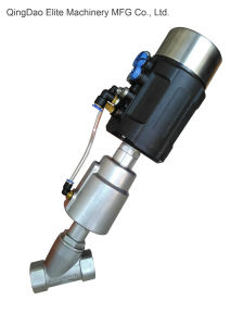 Proportional Control Angle Seat Valve with Positioner pictures & photos