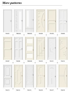 No Formaldehyde Wood Plastic Composite Decorative Interior Painting Door (YM-054) pictures & photos