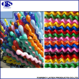 Hot Sale Multi Colors Screw Balloon, Spiral Balloon, Twisted Latex Balloon pictures & photos