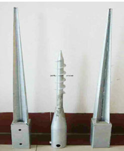 Galvanized Steel Fence Pole Anchor, Steel Ground Spike pictures & photos
