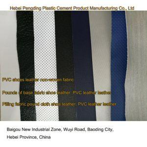 SGS Gold Certification Z044 PVC Outdoor Sports Shoes Leather Artificial Leather PVC Leather pictures & photos