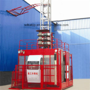 2017 China Hot Sales Sc200/200 2t Load Double Cage 50m High Construction Hoist pictures & photos