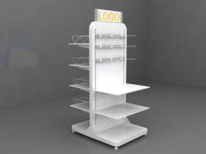 New Design Adjustable Display Stand Rack, Convenience Store Metal Display Rack pictures & photos