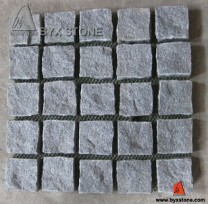 G654 Natural Spit Granite Cobblestone for Paving pictures & photos