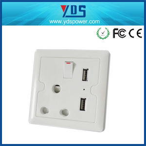 Factory Top Sales South Africa Double USB Charging Wall Socket pictures & photos